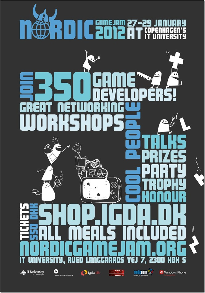Nordic Game Jam 2012 poster
